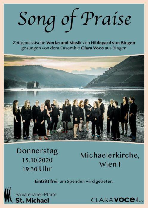 Ensemble Clara Voce, Plakat Konzert 15.10.2020, claravoce.de